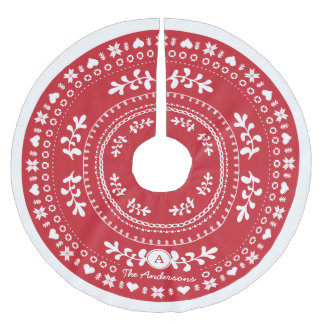 Custom Nordic Christmas Tree Skirt