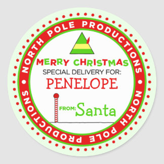 Custom North Pole Productions Gift Tag