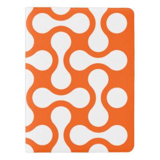 Custom Notebook Refillable ORANGEWHITE Graphic Art