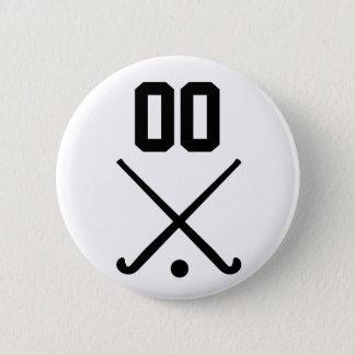 Custom Number Team Field Hockey 2 Inch Round Button