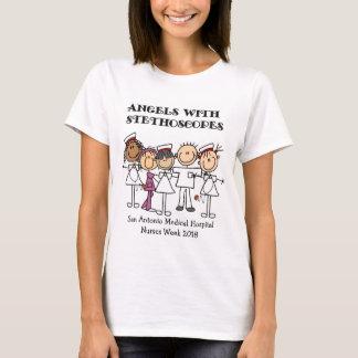 Custom Nurse Stick Figure T-shirt