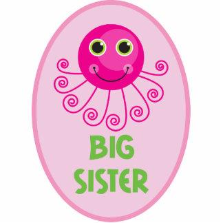 Custom Octopus Big Sister Child's Name Standing Photo Sculpture