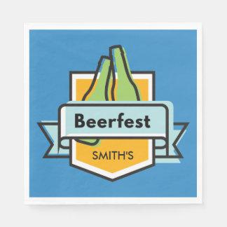 Custom Oktoberfest Beerfest Festival Paper Napkin
