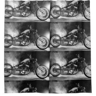 CUSTOM OLD SCHOOL MOTORCYCLE WITH SMOKE