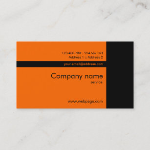 Orange and black business cards business card printing zazzle ca custom orange black business card reheart Images