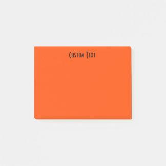 Custom Orange Post-it Notes
