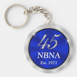 Custom Order Blue 45th Anniversary Keychains