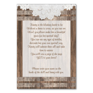 Custom Order - Wood and Lace Design Card