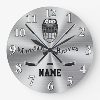 Custom Order your Hockey Wall Clock in Any Colors