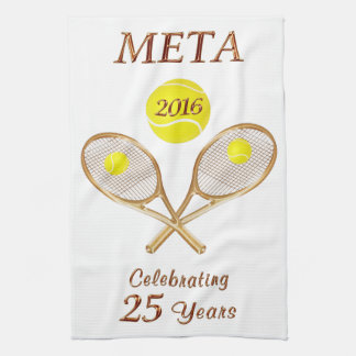 Custom Order Your Personalized Tennis Team Gifts Kitchen Towel