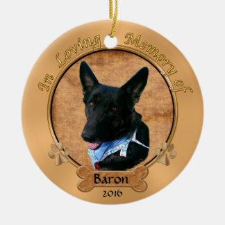 Custom Ordered In Loving Memory Dog Ornament