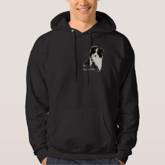 Custom Original Watercolor Border Collie Dog pet Hoodie