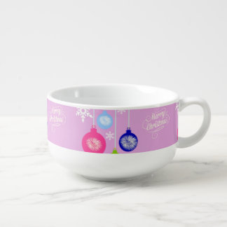 Custom Ornaments Snowflakes Christmas Soup Mug