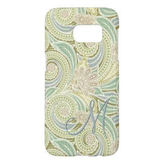 Custom Ornate Chic Pastel Paisley Floral Pattern Samsung Galaxy S7 Case