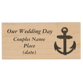 Custom Our Wedding day Picture flash drive