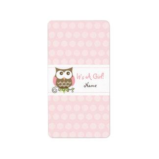 Custom Owl baby shower candy wrapper