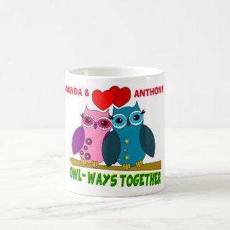 Custom owl-ways together coffee mug