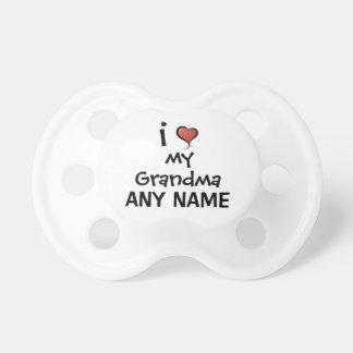 Custom Pacifier Love My Grandma