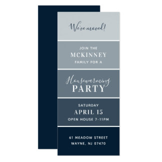Custom Paint Swatch Card Housewarming Party Invite