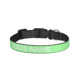 Custom Pale Green Gift Solid Color Pet Collars