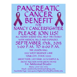 Custom Pancreatic Cancer Benefit Flyer
