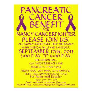 Custom Pancreatic Cancer Benefit Ribbon Flyer