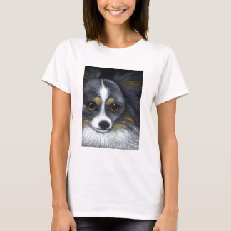 CUSTOM PAPILLON DOG T-Shirt