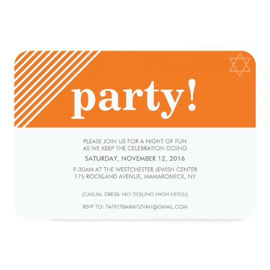 CUSTOM PARTY cool modern bold name orange Card
