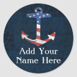 Custom Patriotic American Flag Anchor Nautical