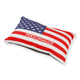 Custom patriotic American flag dog bed for pets Small Dog Bed
