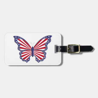 Custom Patriotic Butterfly Luggage Tag
