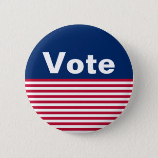 Custom Patriotic Red White and Blue Vote Button