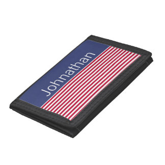 Custom Patriotic Red White and Blue Wallet