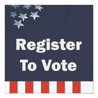 Custom Patriotic Register to Vote Card