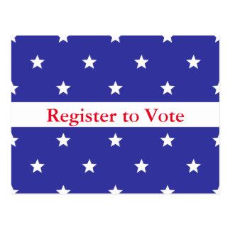 Custom Patriotic Register to Vote Post Card
