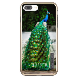 custom peacock beautiful feather art colours incipio DualPro shine iPhone 8 plus/7 plus case