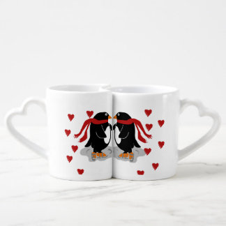 Custom Penguins in Love Valentines Lovers Mugs
