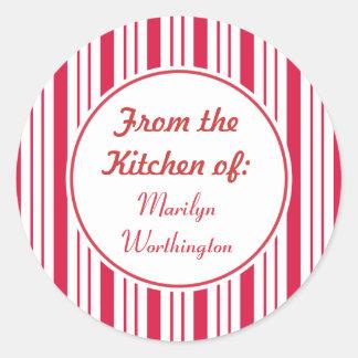 Custom Peppermint Kitchen Stickers