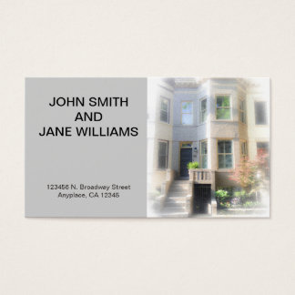 Custom Personal Card: Couples w Horz Home Photo Business Card