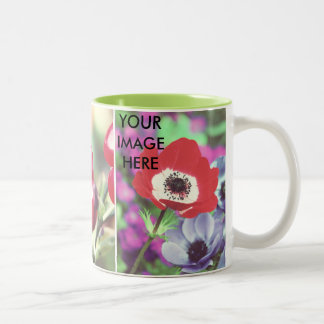 Custom personal photo x3 Two-Tone coffee mug