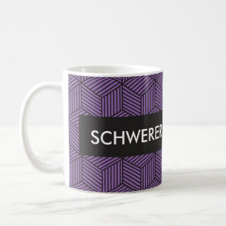 Custom Personalize Geometric Design Coffee Mug Pur