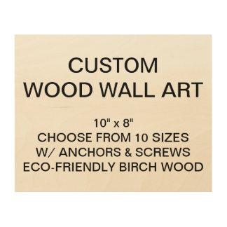 "Custom Personalized 10"" x 8"" Wood Wall Art Blank"