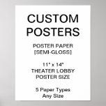 "Custom Personalized 11""x14"" Semi-Gloss Poster"