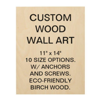 "Custom Personalized 11"" x 14"" Wood Wall Art Blank"