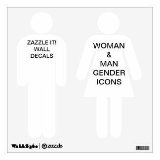 "Custom Personalized 12""x12"" MAN & WOMAN Wall Decal"