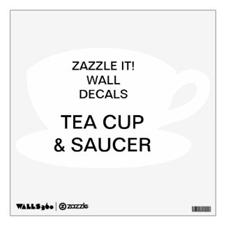 """Custom Personalized 12""""x12"""" TEA CUP Wall Decal"""