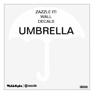 "Custom Personalized 12""x12"" UMBRELLA Wall Decal"