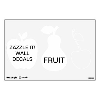 "Custom Personalized 12""x18"" FRUIT Wall Decal"