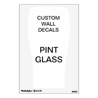 "Custom Personalized 18""x12"" PINT GLASS Wall Decal"