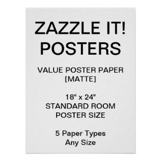 """Custom Personalized 18""""x24"""" Value Matte Poster"""